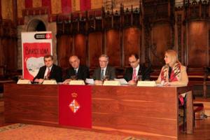 El alcalde de Barcelona Xavier Trias presidió el acto de presentación de Barcelona Ciutat Cardioprotegida
