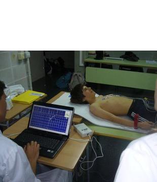 Electrocardiogramas a estudiantes
