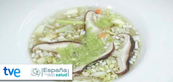 La ciencia de la salud – Receta de Caldo vegetal con falso cuscús de brócoli y setas shiitake